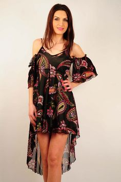 Rochie de vara RVL, asimetrica. Ro 2, Cold Shoulder Dress, Dresses, Design, Fashion, Vestidos, Moda, Fashion Styles