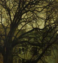 Svend Hammershøi (Danish, 1873-1948), Tree in a Copenhagen Courtyard, 1915.