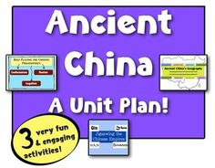 Ancient China Unit:  Geography, Settlements, the Dynasties, and the Philosophies!