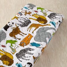 Changing pad: Welcome to the Jungle Changer Pad Cover    The Land of Nod
