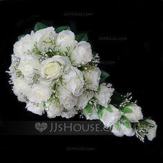 Wedding Flowers - $15.39 - Charming Cascade Satin Bridesmaid Bouquets (123031474) http://jjshouse.com/Charming-Cascade-Satin-Bridesmaid-Bouquets-123031474-g31474