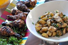Recipes From The Chew : BBQ Chicken and Warm Potato Salad #TheChew