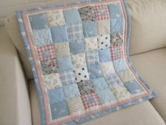 Handmade baby patchwork cot quilt  throw  comforter AnneliseQuilts Etsy .com