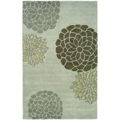 Handmade Soho Botanical Light Grey N. Z. Wool Rug (9'6 x 13'6) | Overstock.com Shopping - Great Deals on Safavieh 7x9 - 10x14 Rugs