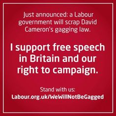 Labour will scrap the Gagging Law