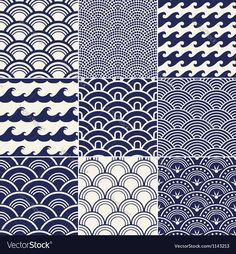 seamless ocean wave pattern. Download a Free Preview or High Quality Adobe Illustrator Ai, EPS, PDF and High Resolution JPEG versions.