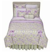Found it at Wayfair - Flower Basket Lilac and Green Bedding Collection $112