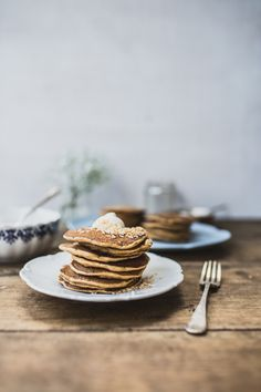 Carrot Cake Pancakes with Vanilla Mascarpone