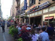The hot spot 4th Street downtown Cleveland in the summer.