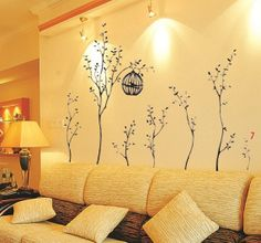 Huge Birdcage Trees 2mWide Wall Stickers art Mural Decal by WallOR, £7.99