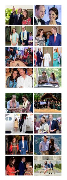 The Duke & Duchess of Cambridge's Tour to India and Bhutan: April 10 - April 16 (2016).