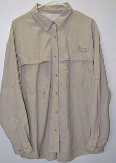 Columbia Women's Bahama Vented #UPF 30+ Fishing Shirt Long Sleeve FL7540 PFG #Columbia #ButtonFrontShirt