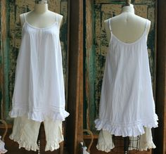 Little White Cotton Dress by megbydesign on Etsy, $145.00