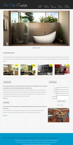 Website Example for Home Remodeling Company in Washington 'http://www.rivercitiesconstruction.com/