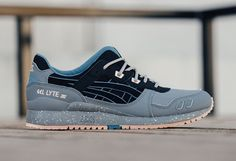 5938faba643 ASICS Gel Lyte III Light Grey Black Blue Nude - Sneaker Bar Detroit Sneaker  Bar