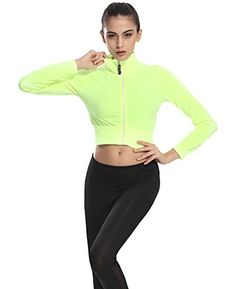 Special Offer: $16.99 amazon.com J-pinno active clothes series offer high quality products for peoples who care and improve the quality of life Features 1.the crop top make you so sexy when sports or casual wear. 2.the solid and zipper up design shape and show your body, this is more than a...
