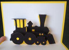 Train pop-up card