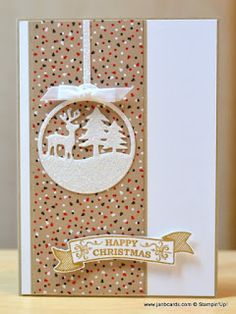 I created this using the Stampin' Up Merry Tags Framelit Dies, Seasonal Bells…