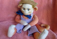 Vintage 1950s stuffed monkey