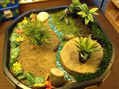Preschool theme: The Jungle! Small world - Rumble in the Jungle Jungle Activities, Preschool Jungle, Eyfs Activities, Preschool Activities, Tuff Spot, Rumble In The Jungle, Dear Zoo, Role Play Areas, Tuff Tray