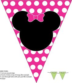 Minnie Wall Banner, Mickey Mouse, Party Decorations - Free Printable Ideas from… Minnie Mouse 1st Birthday, Minnie Mouse Theme, Minnie Mouse Baby Shower, Minnie Mouse Cricut Ideas, Minnie Mouse Template, Pink Minnie, Theme Mickey, Mickey Party, Mickey E Minie
