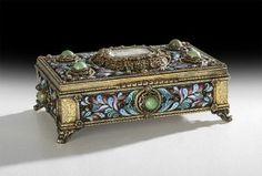 French Gilt-Bronze Music Box/Cigarette Case