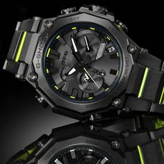 G Shock Watches Mens, Casio G Shock, Cool Watches, Triple G, Watch Fan, Street Culture, Green Accents, Mechanical Watch, Fashion Labels