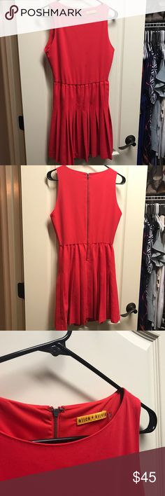 Alice & Olivia 🙌🏼 Red pleated dress Title says it all. Worn twice. It's so fabulous. Runs small so it actually fits more like a two. Alice + Olivia Dresses