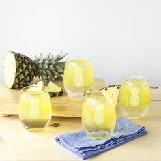 21 ounce Pineapple Stemless Wine es