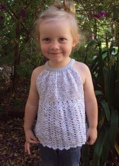 CROCHET PATTERN Pleated Halter Top Pattern PDF by hollanddesigns