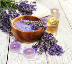 Lavender spa Photos Lavender and massage oil on a old wooden background by Almaje Wooden Background, Massage Oil, Lavender Oil, Natural Healing, The Creator, Spa, Health, Sea Salt, Candle