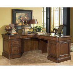 Have to have it. Whalen Villa Tuscano L Shaped Desk $1449.98