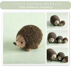 Toy knitting pattern for a little hedgehog by Littlecottonrabbits