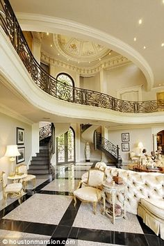 15 Interior Design Ideas of Luxury Living Rooms Luxury Interior, Home Interior Design, Contemporary Interior, Mansion Interior, Luxury Furniture, Interior Sketch, French Interior, Interior Ideas, Furniture Design