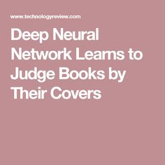 Deep Neural Network Learns to Judge Books by Their Covers