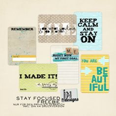 Free stay focused journal cards from jmdesigns