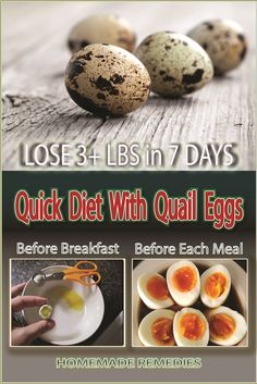 Effective Diet Plan With Quail Eggs