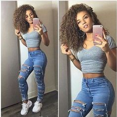 Women Ripped Denim Skinny Pants High Waist Stretch Trousers Pencil Jeans Legging