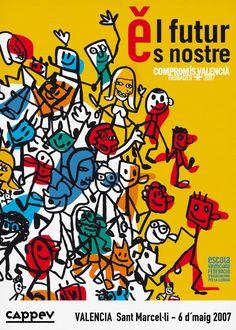 Imagen gráfica de los encuentros comarcales por el valenciano