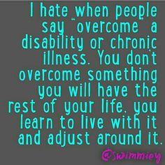 Life with chronic illness quote | chronic illness awareness