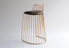 brass barstool - Grind Concept - Brassy