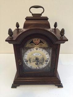 Vintage Warmink Triple Chime Westminster Mantle Moonphase Desk Clock with Key