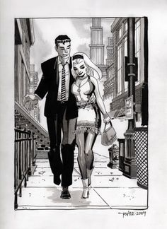 """Gwen and Peter"" by Tim Sale."