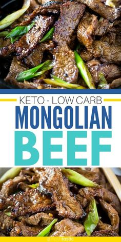 KETO LOW CARB MONGOLIAN BEEF - best keto stir fry recipe with tasty low carb sauce is so much better than takeout! Quick and easy to make, this is an easy healthy recipe that works for ketogneic diet, paleo, whole30 and is gluten free too! www.noshtastic.com