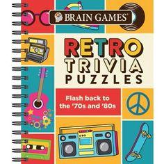 Brain Games Retro Trivia Puzzles : Flash Back to the and Brain Twister Games, Brain Games, Brain Training Games, Clue Games, Test Games, Logic Games, Dementia Activities, Book Activities, Elderly Activities