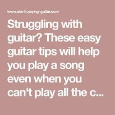 Struggling with guitar? These easy guitar tips will help you play a song even wh.- Struggling with guitar? These easy guitar tips will help you play a song even wh… Struggling with guitar? These easy guitar tips will help… - Guitar Songs For Beginners, Basic Guitar Lessons, Easy Guitar Songs, Guitar Tips, Music Lessons, Art Lessons, Guitar Chords Beginner, Guitar Chords For Songs, Electric Guitar Chords