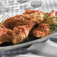 Crispy Italian Baked Chicken - I used all legs and thighs and it was delicious! | MyRecipes.com