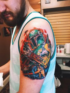 One Helluva Boba Fett Tattoo Artist unknown