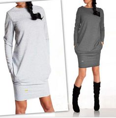 2017 Hot Fashion Autumn Winter Women Dress New Casual Clothing Work Wear Office Party Dresses Long Sleeve Plus Size Vestidos  US $6.79 - 8.49