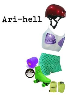"""Roller Derby: Team Disney: Ari-hell"" by thisrandomusername ❤ liked on Polyvore featuring J. Valentine and Triple Eight"